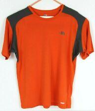 The North Face Mens L Vapor Wick Orange Gray Short Sleeve Shirt Tee T-Shirt Euc