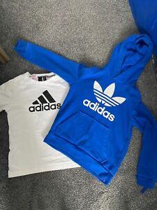 Adidas hoody & Adidas T-shirt Age 9-10 years