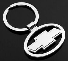 "Chevrolet Chevy Car Logo Keychain Key Ring Silver 2"" US Seller"