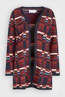Seasalt Expressionist Cardigan Wool Cashmere Blend Size 18 Jacquard
