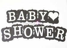 BABY SHOWER Bunting Banner Vintage Kit Wedding Garland Candy Buffet Decor Favour
