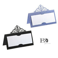Luxury Crown Party Table Name Place Numbers Cards Laser Cut Wedding Favour Decor