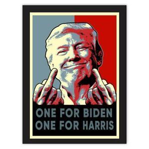 Gift Sticker : Trump Middle Finger Gag One for Biden Harris President