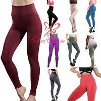 UK Women's Seamless Leggings Gym Sportswear Yoga Pants Running Training Fitness