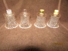 4 Homco Glass Votive Sconce Cup Candle Holder Peg Light Pink Diamond Point