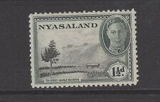 NYASALAND 1945 1 1/2d BLACK & GREY Lightly Mounted Mint