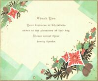 Vintage Art Deco Christmas Thank You Cards Lot of 2