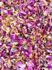 50 Guests x Biodegradable Wedding Confetti Pink Grey Rose Petals Dried Flower
