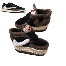 Scott X Air J BasketBall Low Black Brown Shoes Crochet Sneaker Baby Boy