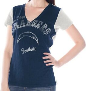 G-III Sports San Diego Chargers Women's Fair Catch V-Neck T-Shirt