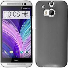 Coque Rigide HTC One M8 - métallique argenté + films de protection