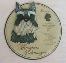 "Miniature Schnauzer Dog Garden Stone/Wall Decor 11"" x 11"" Evergreen Enterprises"
