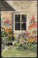Mystery Artist - Signed - 1976 - Garden - 1 Of 2 - Original Painting - Signed