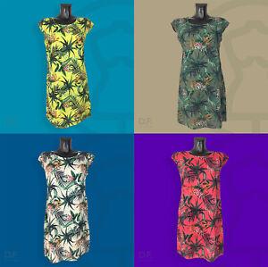 Original - Made in Italy - Floral Kleid, Sommerkleid Kurzarm Details - Leinen