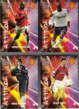 4 VIGNETTES CARTONNEES FOOT OFFICIAL MERCHANDISING MANCHESTER UNITED