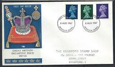 Grande-Bretagne FDC 1/6, 9d, 3d - Windsor Berks 8 août 1967