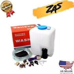 Universal Windshield Washer Pump Reservoir Kit Fluid Reservoir Tank Bottle