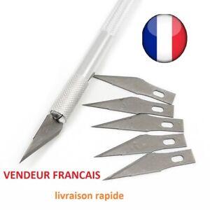 Cutter scalpel  de précision gravure sculture aluminium avec  1+5 lames rechange