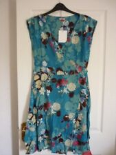 JOE BROWNS FLIRTY LAYER DRESS TURQUOISE MULTI FLORAL UK 12, EUR 38-40, US 8 BNWT