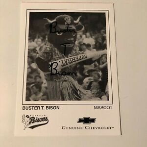 Buffalo Bisons-Buster T. Bison signed card- Bisons Mascot
