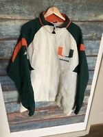 Vintage Miami Hurricanes Mens Apex One Varsity Jacket Puffer Size 2XL