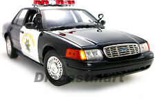 MOTORMAX 1:18 FORD CROWN VICTORIA CALIFORNIA  HIGHWAY PARTOL POLICE CHP BLK WHT