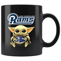 Los Angeles RAMS Baby Yoda Star Wars Cute Yoda RAMS Funny Yoda Coffee Mug