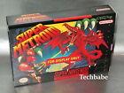 SNES Display BOX Super Nintendo Metroid Box Only (NO GAME)