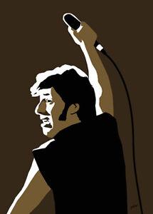 Bruce Springsteen - Blinded By The Light - Original (signed) print - Jarod Art