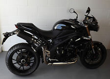 Triumph Speed Triple 2012 SP Engineering Carbon Fibre Round Moto GP XLS Exhausts
