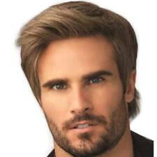 Handsome Mens Short Straight Wig Real Natural Wigs Party Cosplay Hair Toupee AU