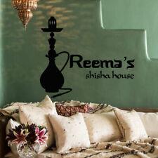 Wall Decal Sticker Hookah Hooka Shisha Lounge Relax Inscription Bar Hause M1575