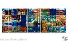Abstract Holographic 3D Effect XL Metal Wall Art by Ash Carl Modern Home Décor