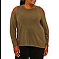 NEW! PLUS SIZE 2X ~  XERSION COLD SHOULDER TOP ~ $32 NWT