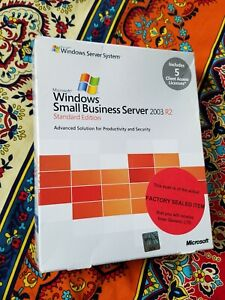 Factory Sealed- T72-01411 Microsoft Small Business Server Standard 2003 R2 5 CAL