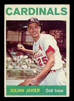 1964 Topps Baseball #446 Julian Javier St. Louis Cardinals - SBID004