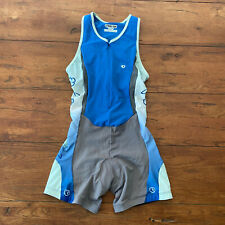 Pearl Izumi Womens Small Triathlon Suit Blue Trisuit Skinsuit Cycling Swim S