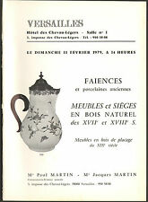 FAIENCES ET PORCELAINES FRANCE ETRANGER DIVERS 1979