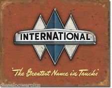 Vintage Replica Tin Metal Sign International Semi Truck Navistar Bus Logo 1675