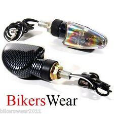 Oxford Eyeshot Mini Indicators Arrow Long Carbon Motorcycle Road Legal of477
