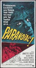 PARANOIAC original large 41x81 HAMMER 3-sheet poster OLIVER REED/JANETTE SCOTT