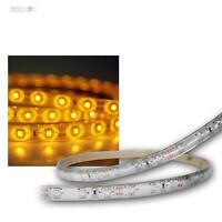 ( 8,66€/m ) 5m SMD LED Banda De Luz Amarillo Resistente Al Agua Ip65 Barra