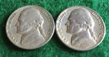 1942 P D JEFFERSON  NICKELS (2 coin set), Circulated
