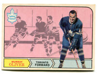 1968-69 OPC Murray Oliver Card #194 Toronto Maple Leafs