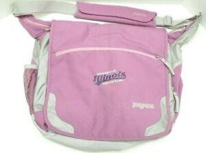 Jansport TM20 Pink Crossbody Laptop Messenger Bag University of Illinois Logo