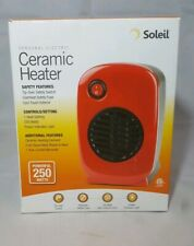 Soleil Personal Electric Small Portable Ceramic Space Heater 250 Watt Red