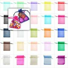 20/40/60/100pcs Organza Gift Pouches Bags Jewelry Wedding Packaging Favor 9x7cm