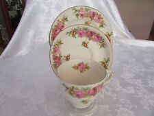 Royal Doulton Roses and & Wattle Trio Cup, saucer & plate Made in England c1936