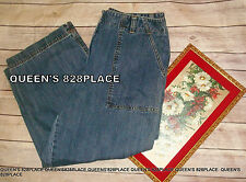 Jones Sports Women's size 8 Blue Denim Capri Cropped Jeans High Waist ladies