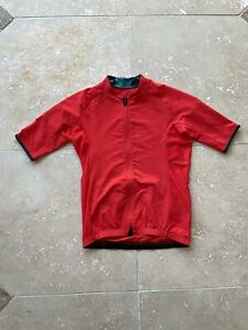 Velocio Full Zip Red Men's Signature Cycling Jersey Size Small Made in Italy